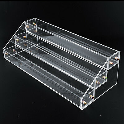 3 Tier 30 Bottles Clear Acrylic Display Stand Rack Nail Polish Salon Wall case