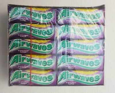 WRIGLEYS AIRWAVES BLACKCURRANT MENTHOL - Full Box Of 30