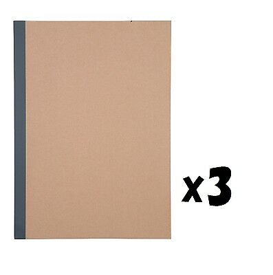 MUJI made in japan 7mm ruled 30 sheets (60 pages) A4 size notebook set of 3 note