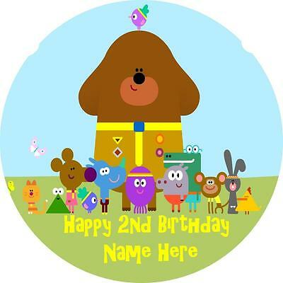 Hey Duggee edible icing cake toppers. Personalise for your occasion!