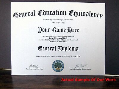 Get A Customized GED High School Diploma Certificate ?Novelty?Real?Not Fake?