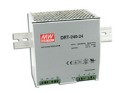 Mean Well DRT-240-24 AC/DC Power Supply Single-OUT 24V 10A 240W  US Authorised