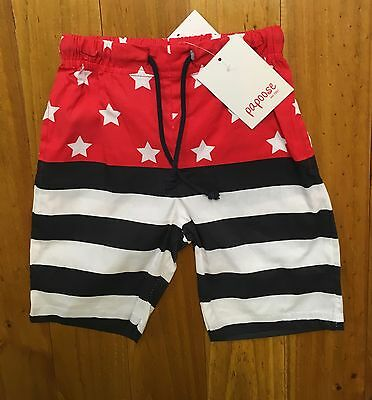*NEW* Papoose Baby Toddler Boy Stars Stripes Board Shorts 2 Colours