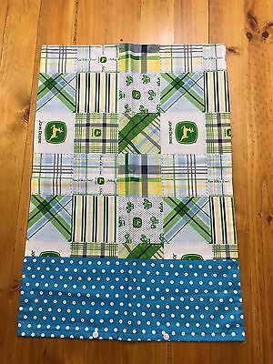 *new* Boys John Deere Cot Cover Set With Matching Pillowcase