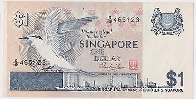 (WV-149) 1967 Singapore $1 Bank note (E)