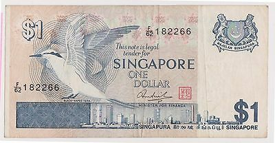 (WV-156) 1967 Singapore $1 Bank note (L)