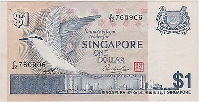 (WV-153) 1967 Singapore $1 Bank note (I)