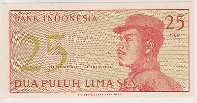(WV-133) 1964 Indonesia 25 SEN Bank note (H)