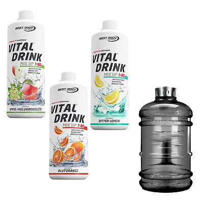 9,96€/L Best Body Vital Mineraldrink Konzentrat (3 x 1L + BONUS Water-Gallon)