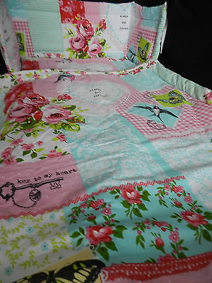 NEW BABY AND ME -KEY TO MY HEART CRIB COT SPACE SAVER OR COTBED SET and more