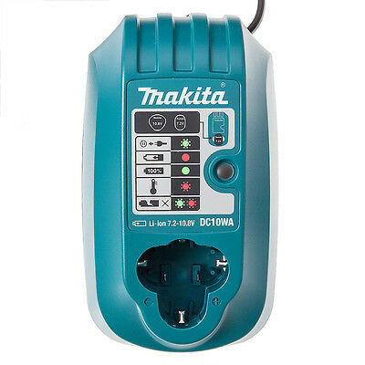 Makita DC10WA 10.8v Fast Battery Charger Lithium Ion LXT for BL1013 Batteries