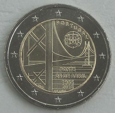 "2 Euro Portugal 2016 ""Brücke des 25. April"" unz"