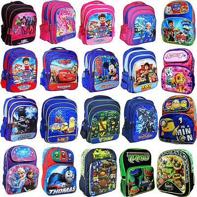 New Large Kids Backpack Boys Girls School Bag Children Monster Paw Patrol Frozen