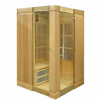 2 Person Infrared Sauna Cabin Schweden Carbon Fiber Heaters