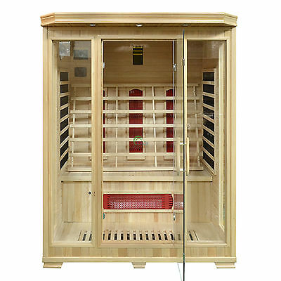 3 Person Infrared Sauna Cabin Horten Carbon Fiber and Ceramic Heaters