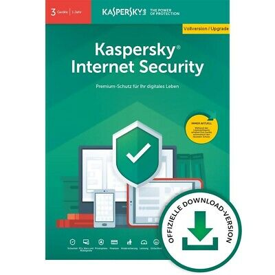 Kaspersky Internet Security 2020 3 PC 1Jahr VOLLVERSION / Upgrade 2019 DE-Lizenz