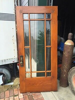 D2 18 Super Clean Antique Original Finish Beveled Entrance Door Townhouse