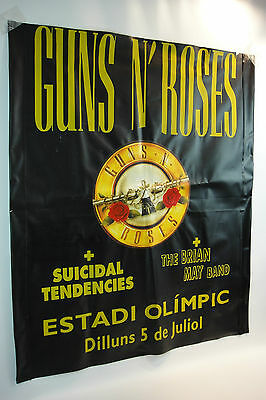 Guns N' Roses 5 JULY 1993 Use Your Illusion Tour GIGANT PVC POSTER ULTRA RARE !!