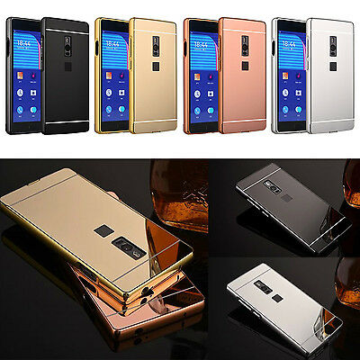 For OnePlus 2 3 Luxury Aluminum Metal Bumper   Mirror PC Back Skin Case Cover
