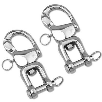 Quick Release Hook/Snap Shackles Horse Harness Trace to Carriage (Pair) 5 inch