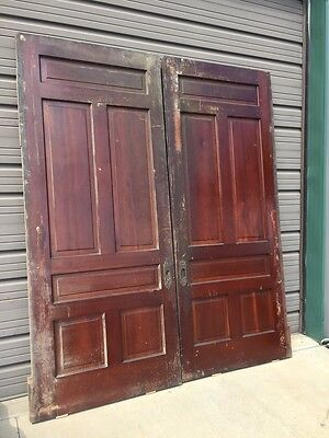 D 234 One Set Antique Pocket Doors 88 1/2 Inch Wide By 10 1 1/2 Inch High