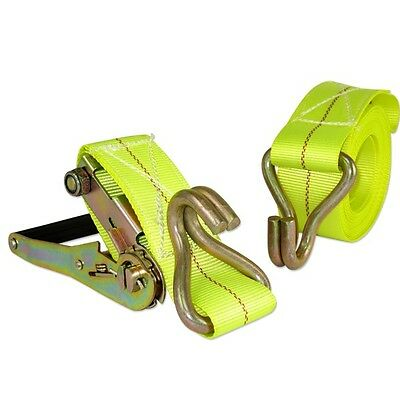 """2"""" x 20' ft Ratchet Tie Down with J Hook Cargo Strap Quick Thumb Release Ties"""