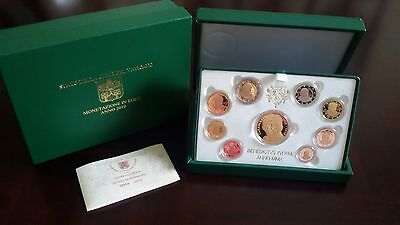 Vatican Proof Annual Coin Set 2010  8 Coins + Gold Medal Mintage ONLY 300! New