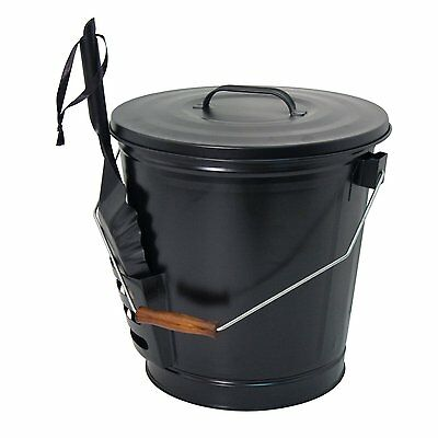 Panacea 15343 Ash Bucket with Shovel, Black [Package Qty 1] 12.5-inch diameter