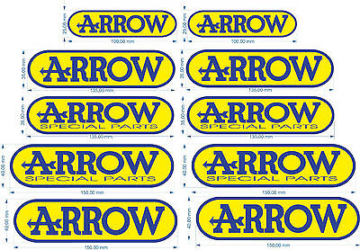 2 adesivi arrow resistenti al calore arrow special parts marmitta moto Stickers