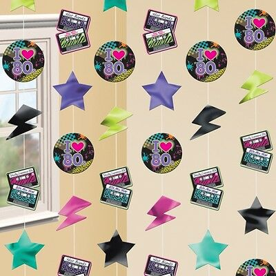 Totally 80s Strings Decorations - Pack Of 6