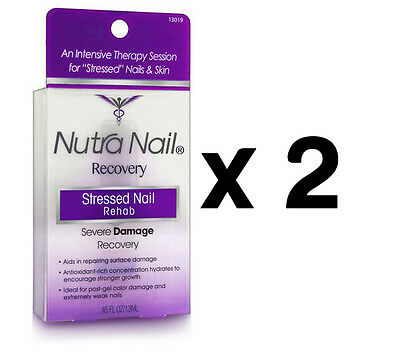 2 x Nutra Nail Recovery Stressed Nail Rehab Severe Damage Recovery 13ML
