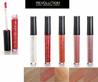 Makeup Revolution Amazing Lip Gloss Makeup High Shine Lipstick Liquid FREE POST