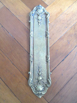 Decorative French Brass Finger Door Plate