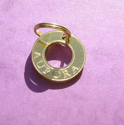 dog tag id name disc gold brass Ref Polo