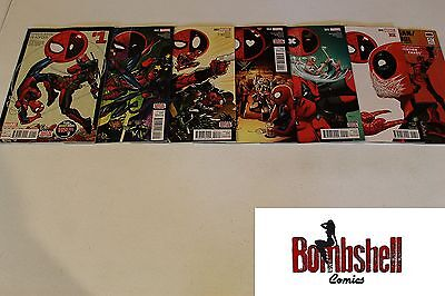 Spider-Man Deadpool 1 2 3 4 5 6 7 Complete Comic Lot Run Set 1st Print NM