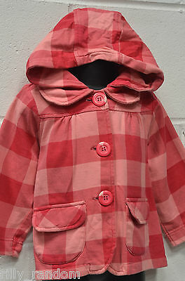 Little Girls Pumpkin Patch Pink Hooded Jacket Age 3 Years *Will Combine Post*