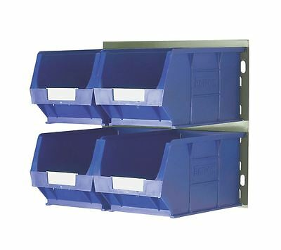 Wall Mountable Bin Kit 4 x Removable Bins Storage Containers STRONG Steel Panel