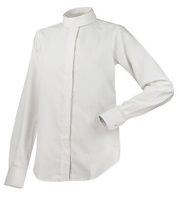 The Wellington Collection Ladies AirMax Long Sleeve Show Shirt-White-40