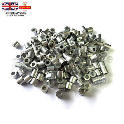 Aluminium Ferrules Steel Wire Rope Crimping Sleeve (Single) 3mm 4mm 5mm 6mm