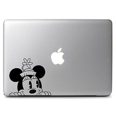 Disney Retro Minnie Peep Decal Sticker for Macbook Air Pro Laptop Car Window Art