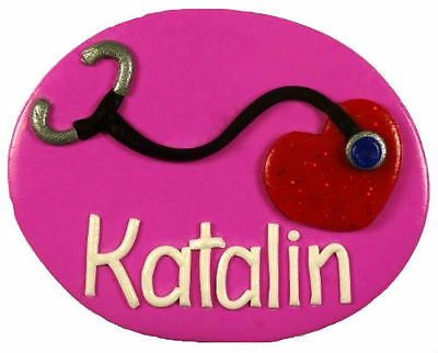Stethoscope B Name Badge - with your name (loved by nurses)