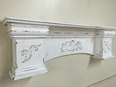 French Country Mantle Shelf,Primitive Mantel,Large Mantle shelf Fancy Mantle,60""