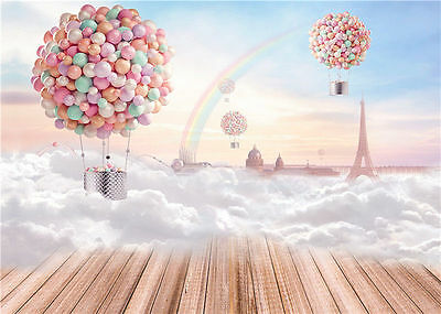 Balloons Photography Backdrops Children Photo Studio Baby Background Vinyl 7x5FT