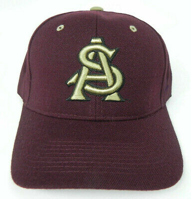 watch 7bb1e 11695 Arizona State St. Sun Devils Maroon Ncaa Vintage Fitted Zephyr Dh Cap Hat  Nwt!