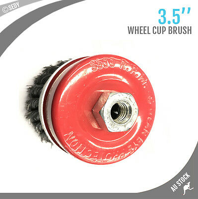 """3.5"""" Wire Wheel Cup Brush Twist Knot Wire Wheel Grinding Cleaning Rust Remover"""