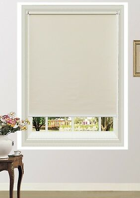 100% Blackout Roller Blinds Commercial Quality Room Darkening 6 Colours 11 sizes