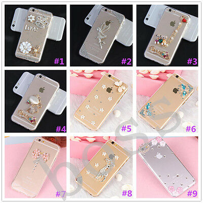 Glitter Luxury Crystal Bling Rhinestone Diamonds Soft Silicone Case Cover AD-8