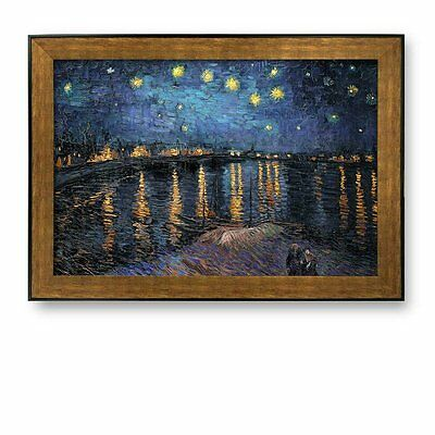 """wall26® - Framed Art - Starry Night over The Rhone by Vincent Van Gogh - 24""""x36"""""""