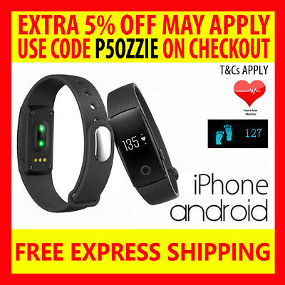 Id107 Heart Rate Activity Tracker Wristband Fitbit Smart Watch Iphone Android