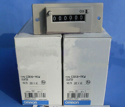 Omron Mechanical Magnetic Counter CSK6-YKW 220VAC New In Box